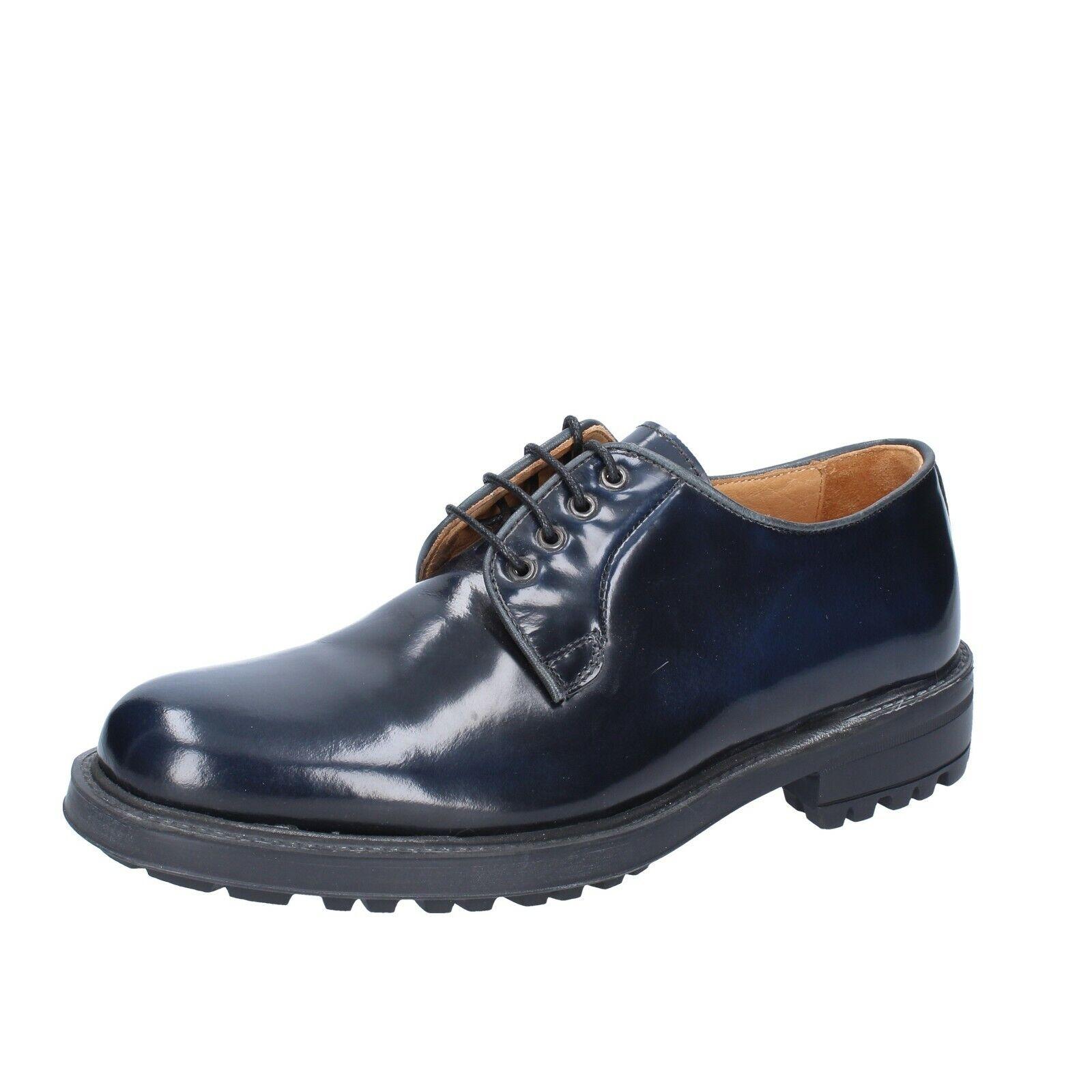 moda classica Uomo scarpe ZENITH 6 (EU 39) elegant blu blu blu shiny leather BS619  vendita online