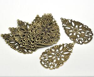 20-Pop-Bronze-Tone-Drop-Pendants-Connectors-6-8x4cm