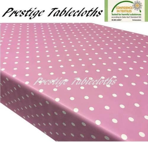 Polka Dot Spots PVC Vinyl Tablecloth Oilcloth ALL SIZES AVAILABLE by PRESTIGE