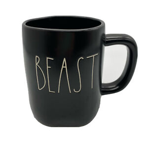 RAE-DUNN-Artisian-Collection-Magenta-Large-Letter-Beast-Coffee-Mug-Cup-Black