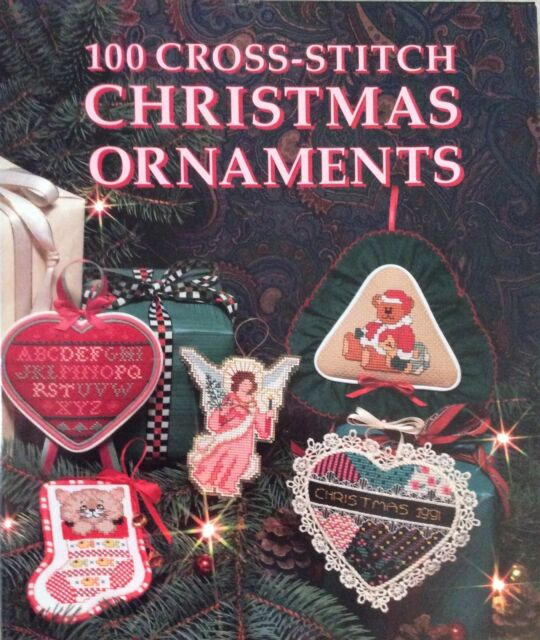 One Hundred Cross-Stitch Christmas Ornaments by Carol Evans (1991, Hardcover)