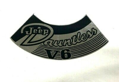 Jeepster 1968 Jeep CJ 5 Emissions Decal  V-6 Dauntless 225