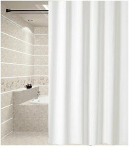 Solid White Shower Curtain 1.8x2m