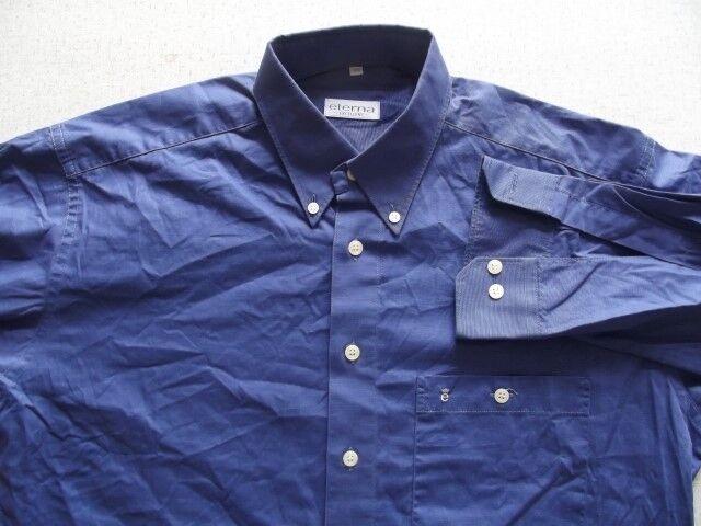 Ta4929 ETERNA EXCELLENT chemise 39 bien bleu chiné unicolore très bien 39 4c2169