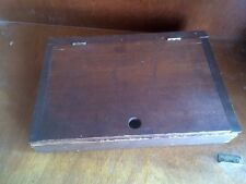 Wood Writing Box Travel Portable Vintage Homemade. Probably USA 13x9x2.5""