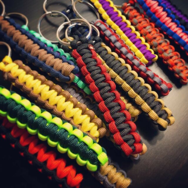 Hand Made Paracord Keyring Keyfob Fob Keychain-Licorne Couleurs