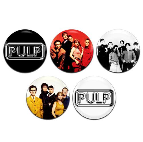 5x Pulp Band Britpop Indie Rock 25mm 1 Inch D Pin Button Badges