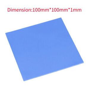 Blue GPU CPU Heatsink Cooling Thermal Conductive Silicone Pad 100mmx100mmx1mm U