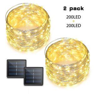 200-DEL-solaire-alimente-fil-de-cuivre-chaine-lumieres-ambiance-eclairage-Pour-Jardin