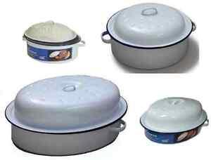 oval round roaster enamel dish roasting oven tray. Black Bedroom Furniture Sets. Home Design Ideas