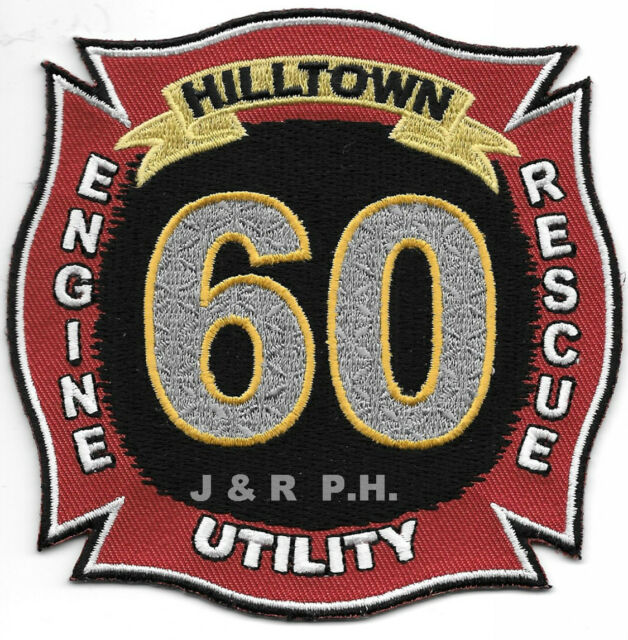 "Hilltown  Station-60, PA  (4"" x 4"" size) fire patch"