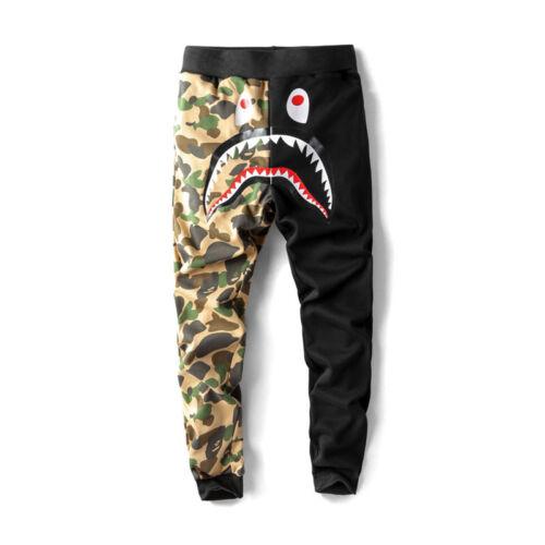 BAPE A Bathing Ape Shark Head Men/'s Long Pants Camo Sweatpants Jogging Pant