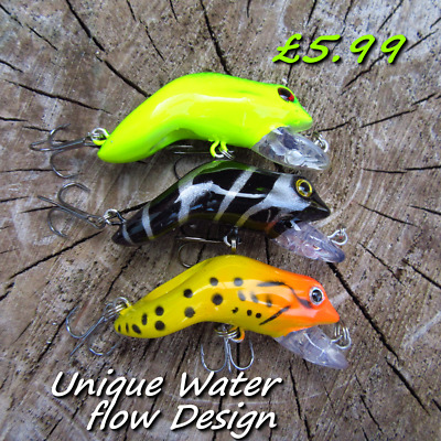3 Creature frogs surface baits soft Rubber fishing Lure Pike Chub Trout Candy