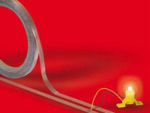 Busch-1799-selbstklebendes-Kupferband-10m-Rolle-6-mm-breit-0-035-mm-dick-Neu