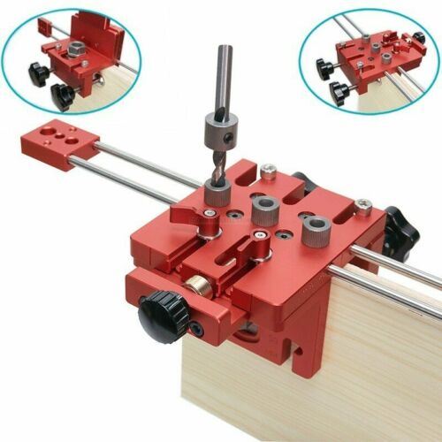 3 in 1 Woodworking Hole Drill Punch Positioner Guide Locator Jig Joinery System