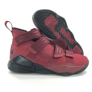 88a588ccbf5 Nike Lebron Soldier XI SFG Red Black White Basketball Shoes 897646 ...