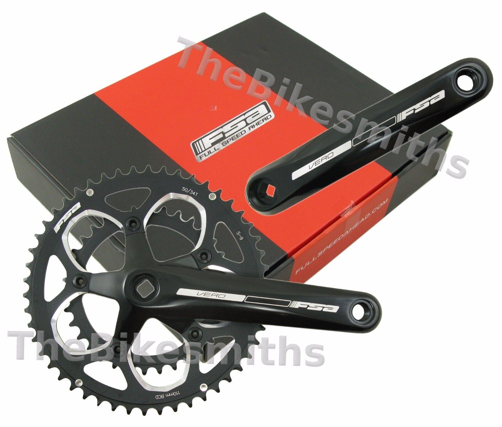FSA Vero Compact Bike Crankset 50 34T 34T 34T SQT JIS 170  172.5  175mm fit Sram Shimano eb0a8e