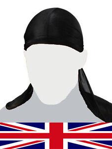 Men-Women-Durag-Bandana-Sports-Du-Rag-Scarf-Head-Rap-Tie-Down-Band-Biker-Cap-UK