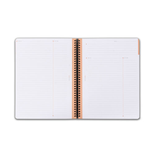 6.5 x 8.25 NEW Meeting Book Rhodia Wiredbound Lined Notebook Black