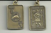 Saint Phillips Patron Of Army Special Forces Airborne Pendant Dog Tag With Chain