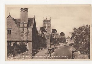 Chipping-Camden-Almshouses-amp-St-James-039-Church-Postcard-A850
