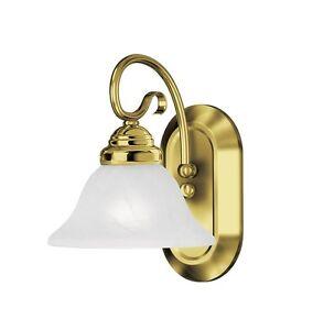 Coronado 1 Light Livex Polished Brass Wall Bathroom Vanity Lighting