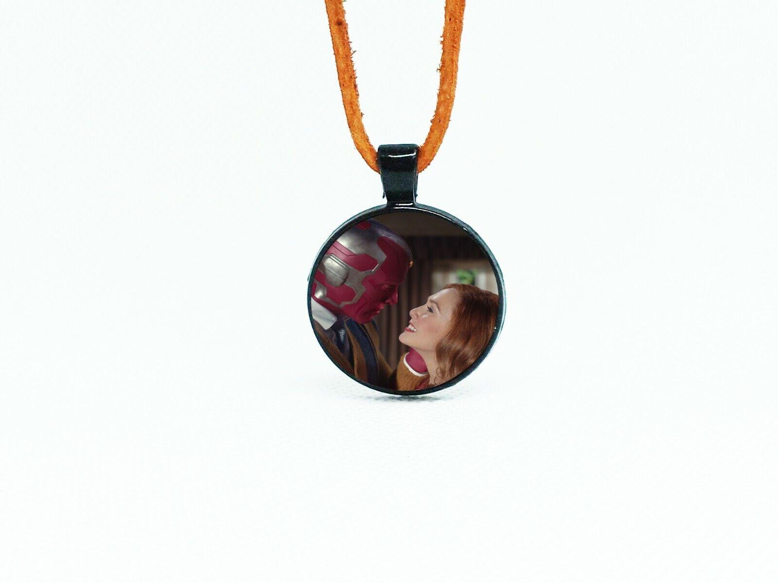 WandaVision Necklace'Leather necklace