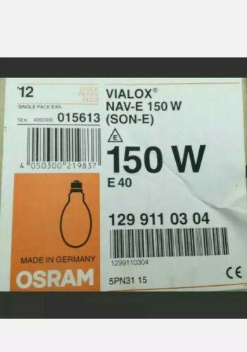 150 W Osram Vialox NAV E 150W//I fils E sodium haute pression Lampe Flood Ampoule