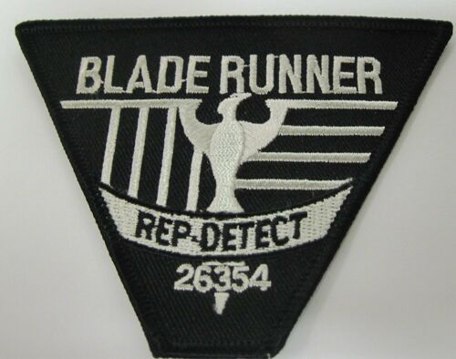 """Blade Runner 3/"""" x 4/"""" Logo Sew Ironed On Badge Embroidery Applique Patch"""