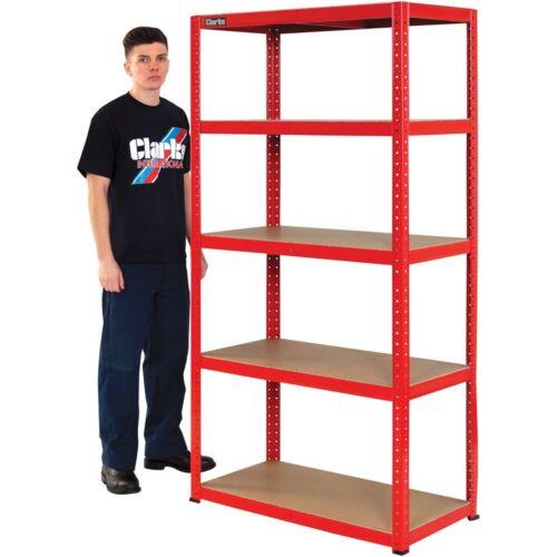 Clarke CSM517545RP 175kg Boltless shelving 6600748 Red
