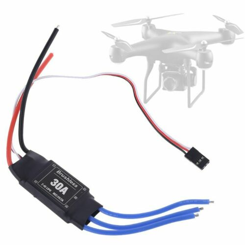Brushless Speed Control Lipo Battery 30A 2-4S RC ESC Controller for Helicopter C