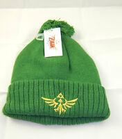 Brand Nintendo Zelda Green Knitbeanie With Logo And Pom Pom