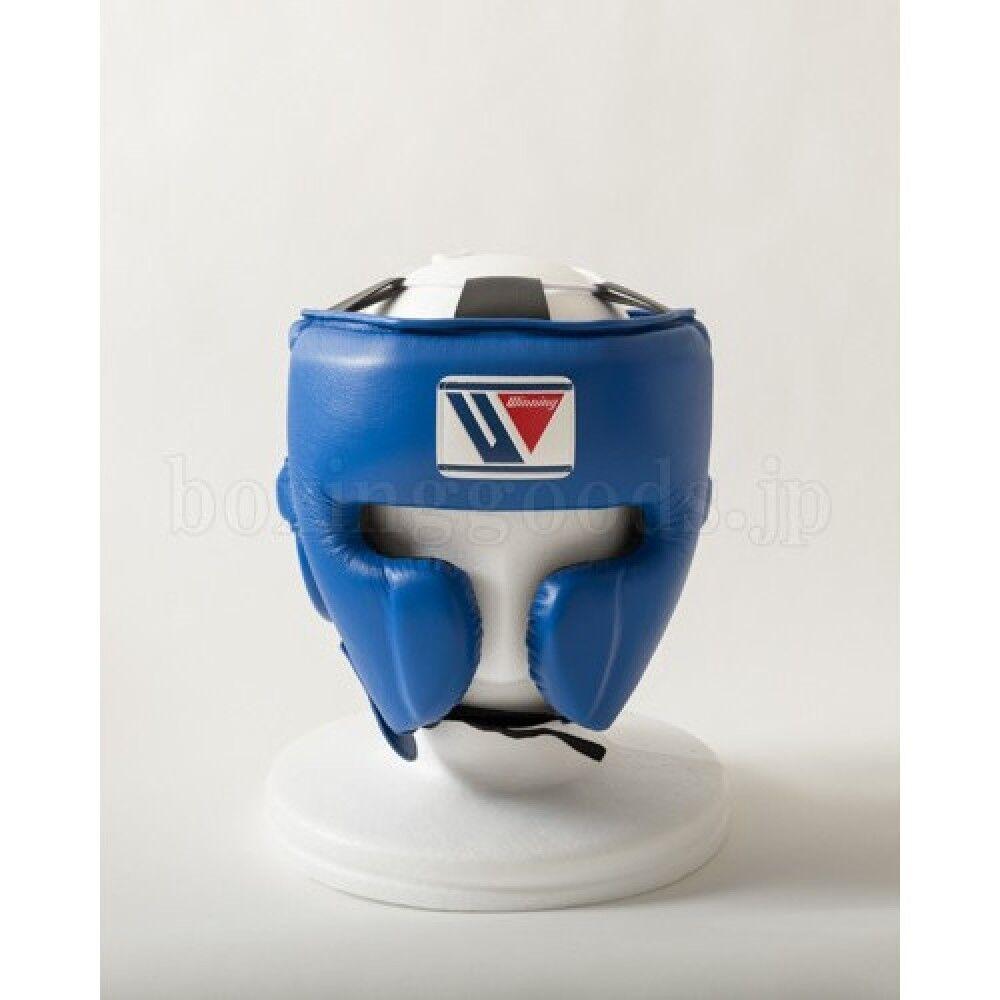 New Winning Boxing Head Gear Face Guard Typ FG-2900 Größe L Blau FreeShipping