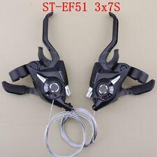 1 Pair SHIMANO ST-EF51 3x7S Shifter MTB Bike Bicycle Shift/Brake Lever Set Black