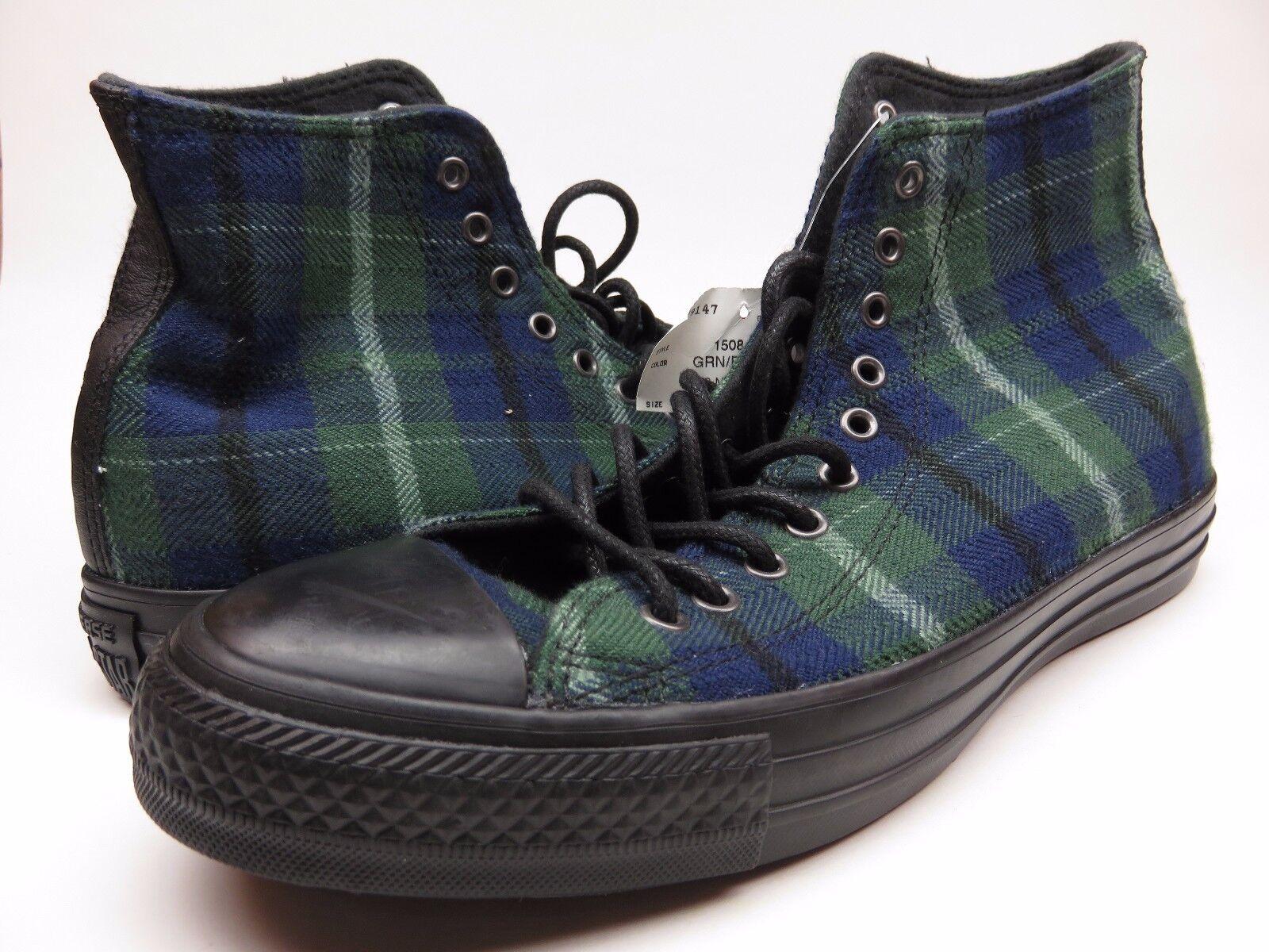 Converse All Star Verde/Azul nuevo a Cuadros Chuck Taylor's nuevo Verde/Azul Alto Top Zapatos c95d97