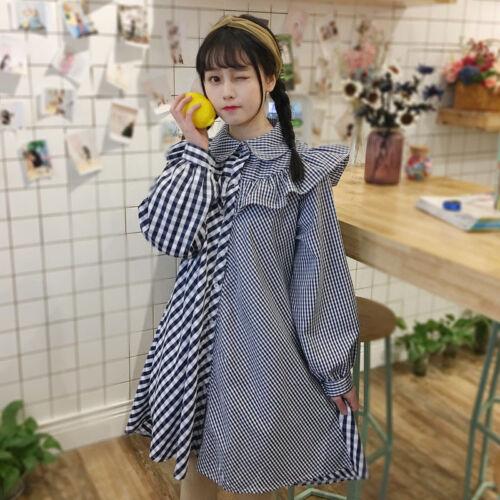 Short skirt  Lolita Casual skirt Falbala Shirt Dress Swing skirt Mori girl Cosy