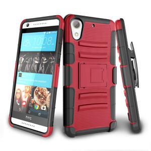 Para-HTC-Desire-626-626s-Hybrid-alta-resistencia-a-prueba-de-impactos-Soporte-Clip-Funda