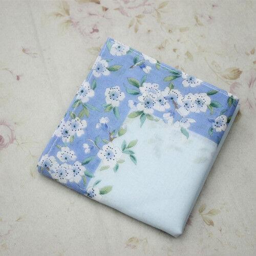 1pc Women Lady Girl Cotton Square Handkerchief Sweat Towel Printed Flower E