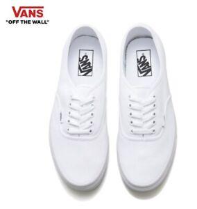 white authentic vans shoes