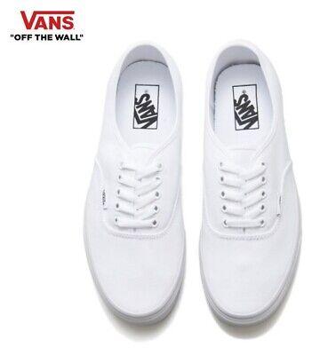 VANS Auténtico Auténtico Blanco Clásicas de Lona tenis de moda estilo de la calle, Zapatos   eBay