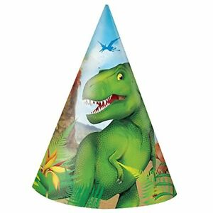 Unique Party 58301 Dinosauro Cappellini per Feste Confezione da 8  e468991d67bc