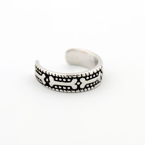 Sterling silver Dog bone design toe ring adjustable toe ring T52