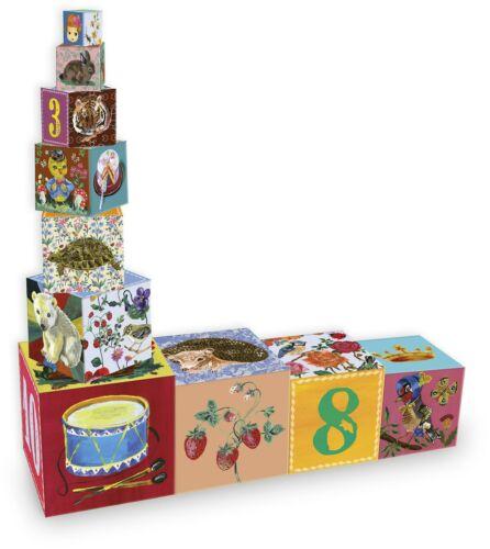Vilac NATHALIE LETE BEAUTY NESTING-WÜRFEL Childrens Holzspielzeug Neu