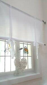Raffrollo 60 90 110 130 150 170 Cm X100cm Leinenmischung Landhaus Shabby Vintage Ebay