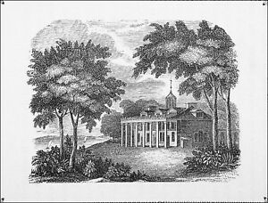 USA-INDEPENDENCE-WAR-WASHINGTON-039-S-HOME-MOUNT-VERNON-Engraving-from-19th-c