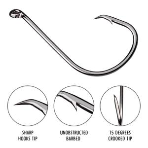 100pcs-7384-High-Carbon-Steel-Strong-Offset-Sport-Circle-Fishing-Hook-Black-Hook