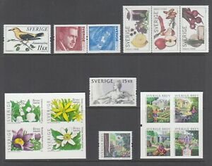 Sweden-Sc-2505-2511-MNH-2005-issues-run-of-6-complete-sets-fresh-bright-VF