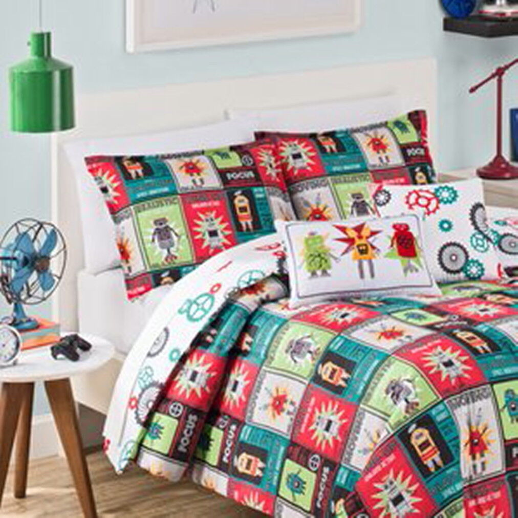Waverly Kids Robotic Full-Queen Duvet Set