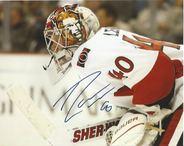 Ottawa Senators Robin Lehner Signed Autographed 8x10 Photo COA B