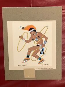 Harrison-Begay-Navajo-HOOP-DANCE-silkscreen-Santa-Fe-6-5-034-x-6-75-034